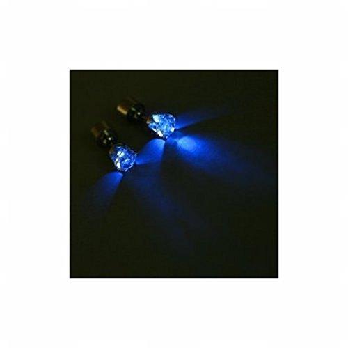 Light Up Led Earrings (Blue Crown) By Dealmagik