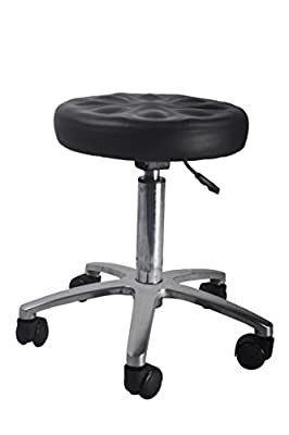 "Adjustable Height Hydraulic Stool 3"" Foam Swivel w/5-wheel Casters Beauty Salon Tattoo Massage Chair Bar Barstool 6002"
