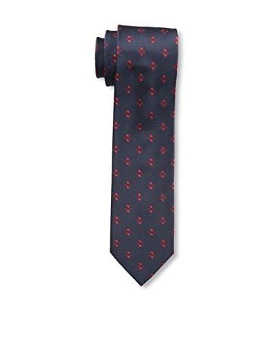 Ermenegildo Zegna Men's Dotted Tie, Navy Red- C