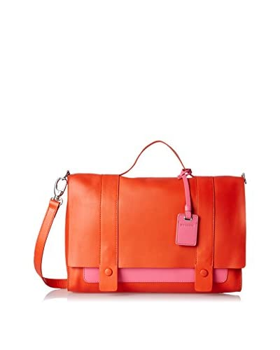 RoviMoss Women's Pinkerton Satchel, Pink/Orange