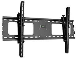 Tilt Adjustable LCD LED Plasma TV HDTV Ultra Slim Wall Mount (Black)