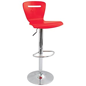 LumiSource H2 Bar Stool, Red