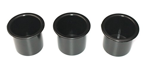 Three (3) pack of 2 7/8 Black Cup Holder Wholesale bulk listing FREE SHIPPING