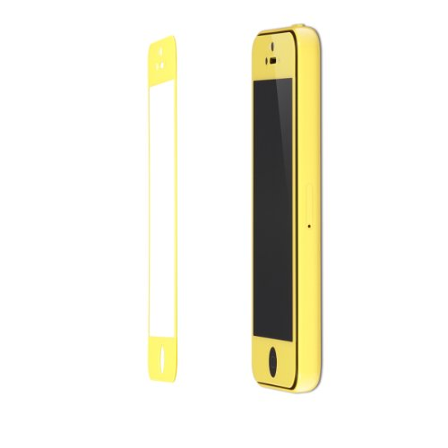 Daswise Colorful Ultra Clear 0.3 Mm Tempered Glass Screen Protector For Apple Iphone 5C /5/5S (Five Colors) (Yellow)