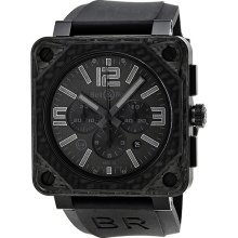 Bell and Ross Aviation Chronograph Automatic Carbon Fiber Mens Watch BR0194-CA-FIBER-PH