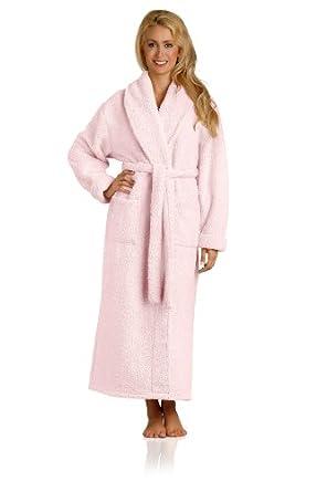 Plush Microfiber Robe - Soft, Warm, and Lightweight - Full Length (XX-Small, Blush)
