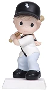 Precious Moments Swing For the Fences Girl Figurine, Chicago White Sox by Precious Moments
