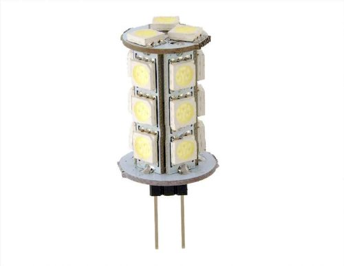 Car G4 18 5050 Led White Light Lamp With Nonpolarity (White)