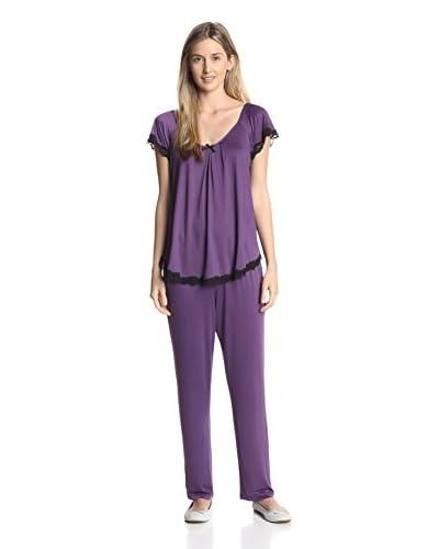 Oscar de la Renta Pink Label Women's Boudoir Lace PJ Set