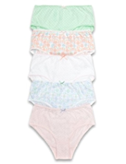 5 Pack Pure Cotton Floral Briefs