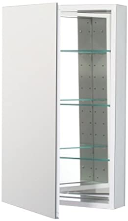 Robern CB-PLM2030WRE  Pl-Series Right-Side Flat Mirror Medicine Cabinet with Outlet, White