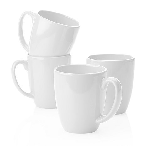 Corelle for Joy Strokes of Color Premier 4-piece Set of Mugs Bright White (Corelle Winter Frost Coffee Mugs compare prices)