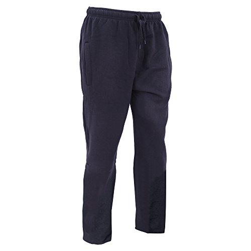 FLOSO - Pantaloni sportivi - Uomo (Taglia M - girovita 86 cm) (Blu navy)