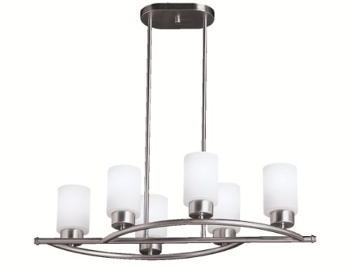 B003HRXAZK Kichler Lighting 3031NI 6 Light Modena Chandelier, Brushed Nickel