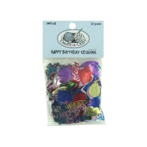 happy birthday sequins 20 grams - Pack of 24