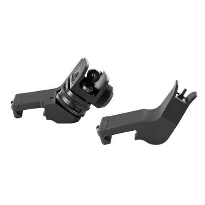 Ade Advanced Optics Ar 15 Front/Rear 45-Degree Rapid Transition Buis Backup Iron Sight