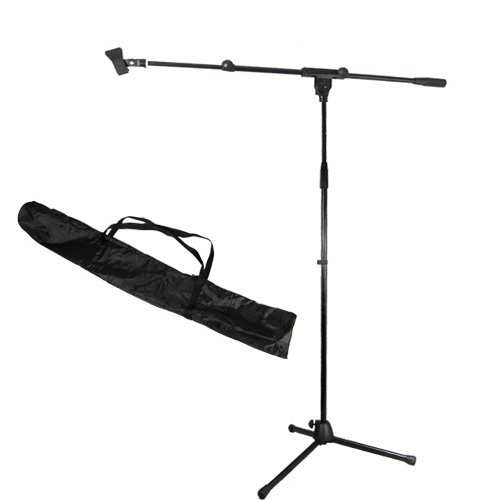 Podium Pro Adjustable Steel Microphone Stand With Boom , Clamp Mic Clip And Stand Bag Ms2Set10