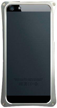 ABEE iPhone5対応 カケンアルマイト 【超肉厚5.4ミリ硬質アルミニウム採用 アルミジャケットバンパー】 シルバー MA-5X01-SK