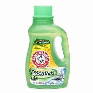 Arm & Hammer Laundry Detergent Essentials 2x Concentrate, Free of Perfumes & Dye, 26 Loads** 50 fl o