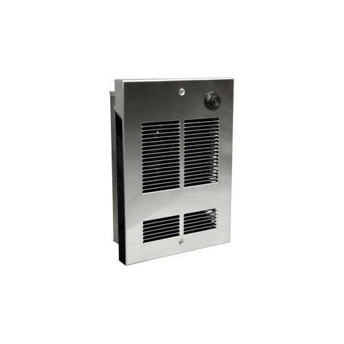 Berko® Shallow Wall/Ceiling Fan Forced Zonal Heater Sed1024c 240/208v, 1000/750 Watts, Chrome