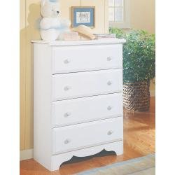 Visions by Lane 924-318 4-Drawer Chest, White by Creative Interiors