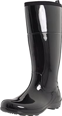 Kamik Women's Ellie Rain Boot,Black-Noir,6 M US