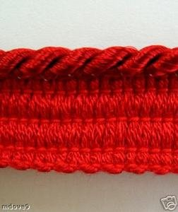 12 Yds Narrow Lip Cording 536 Cayenne Red