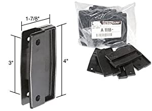 "Bulk Pack of Black Sliding Screen Door Plastic Pull Set With 3"" Screw Holes"
