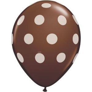 Brown And White Polka Dot Balloons