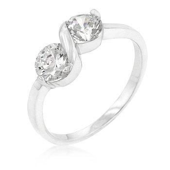 Two Stone Anniversary CZ Ring