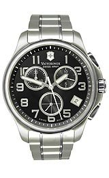 Victorinox Swiss Army Officer's Chrono Black Dial Men's watch #241453