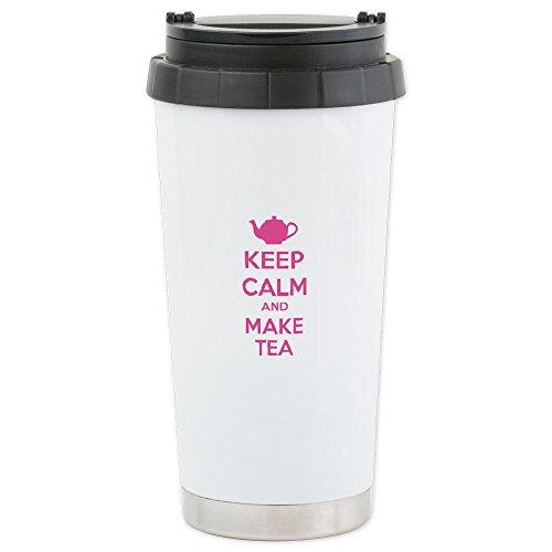 Cafepress Keep Calm And Make Tea Ceramic Travel Mug - Standard Multi-Color
