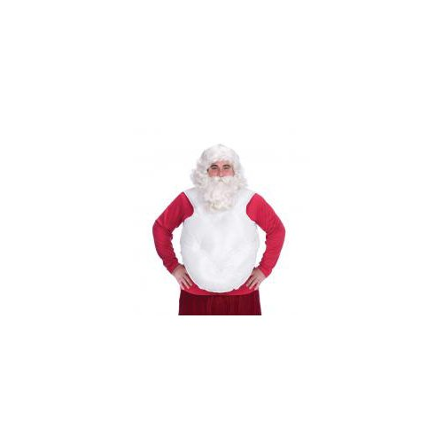 Santa Claus Suit Belly Stuffer (White) Adult Costume Accessory