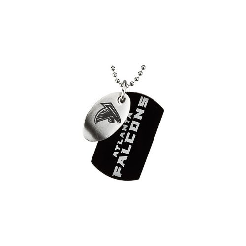 88 St Steel 45mm Atlanta Falcons NFL Football Team Jewelry Men 2 Dog Tag W/Chain