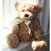 "Beverly Hills Teddy Bear 18"" Honey Colored Curly Bear by Beverly Hills Teddy Bear Company"
