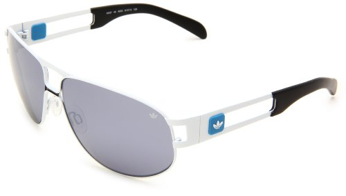 adidas Conductor Lo Rectangular Sunglasses, White Shiny, 61 mm