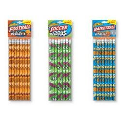 DDI - All Star Sports Pencils 8 Pack (Cases of 72 items)