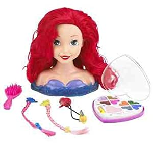 Disney Princess Ariel Styling Head, with makeup palette