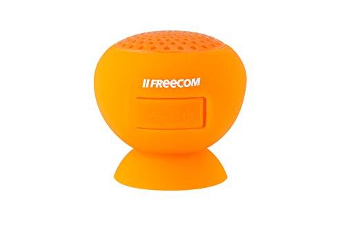 フリーコム Freecom Tough Speaker  ピタッと吸着 防水ワイヤレスブルートゥーススピーカー  オレンジ 37181