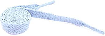 "Women's Fashion Flat Shoelaces Baby Blue 27"" Inches"