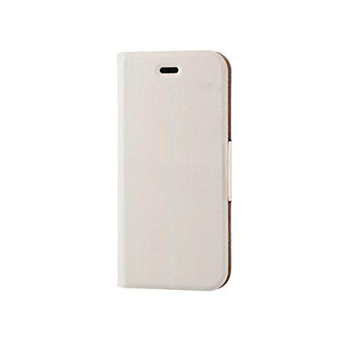 ELECOM iPhone 6s/6 対応 ケース 手帳型 ソフトレザーカバー 薄型 ホワイト  PM-A15PLFUMWH