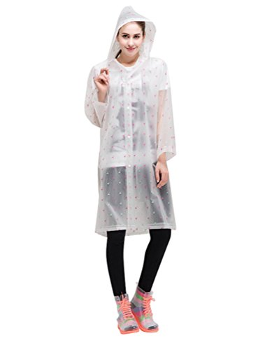 lvrao damen bunt drucken transparent regenm ntel outdoor. Black Bedroom Furniture Sets. Home Design Ideas
