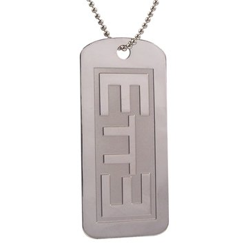 LDS Unisex Steel ETTE Endure to the End Dog Tag Necklace on a 24