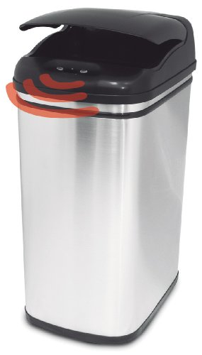Nastech Auto Bin Satin Stainless Steel Square 32L