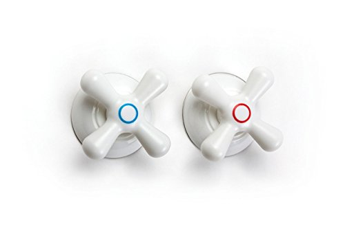 Set of 2 Towel Hooks Faucet by Peleg Design. Suction Cup Mounted Hooks.