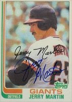 Jerry Martin San Francisco Giants 1982 Topps Autographed Hand Signed Trading Card. by Hall of Fame Memorabilia