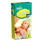 Pampers Swaddlers Jumbo Newborn Diapers, 36-Count (Pack of 6)