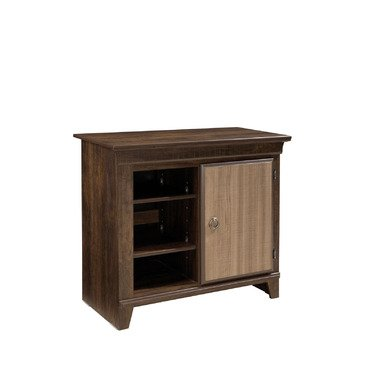 Standard Furniture Weatherly Media Chest in Cherry & Weathered Brown