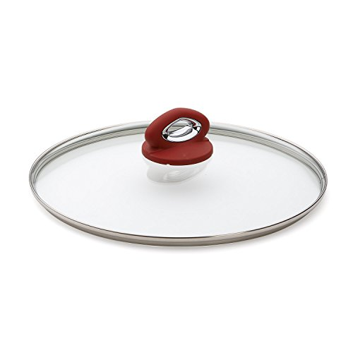 Bialetti Aeternum Red 07030 Glass Cover, 12-inch (Red Bialetti compare prices)