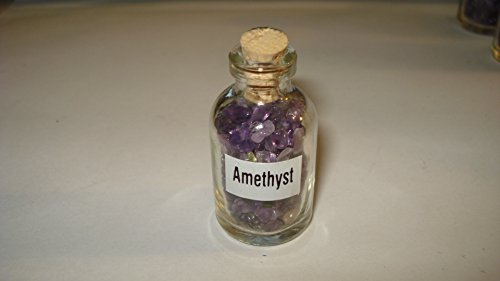 (** Brand New Item 2015 **) 1pc Premium Quality Amethyst Gemstone Chips Healing Crystal Collectible Bottles with Cork Top